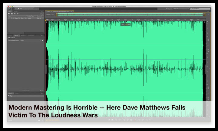 The Horrid Dave Matthews Band Mastering Job For Reference - Someone Needs Fired